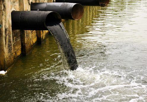 загрязненные воды