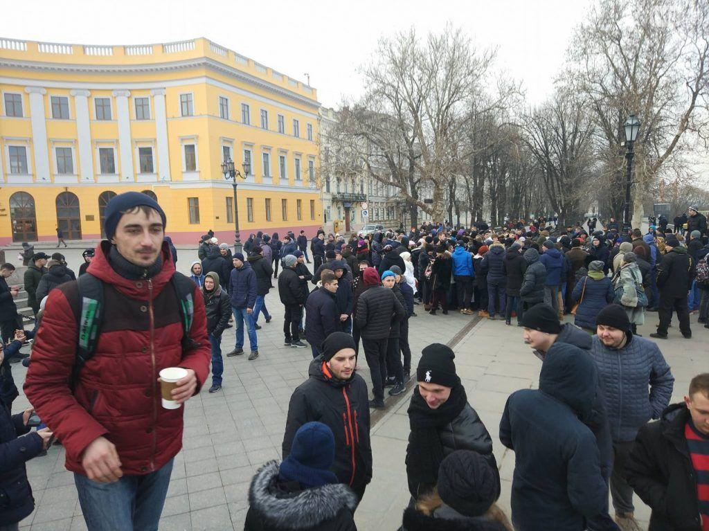 фейковый митинг в Одессе