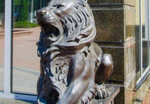 скульптуры похищенных львов в Одессе