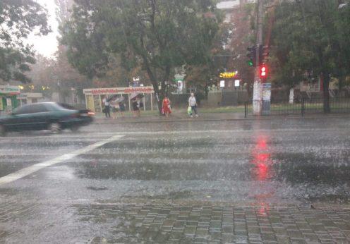 шторм в Одессе 9.08.2019