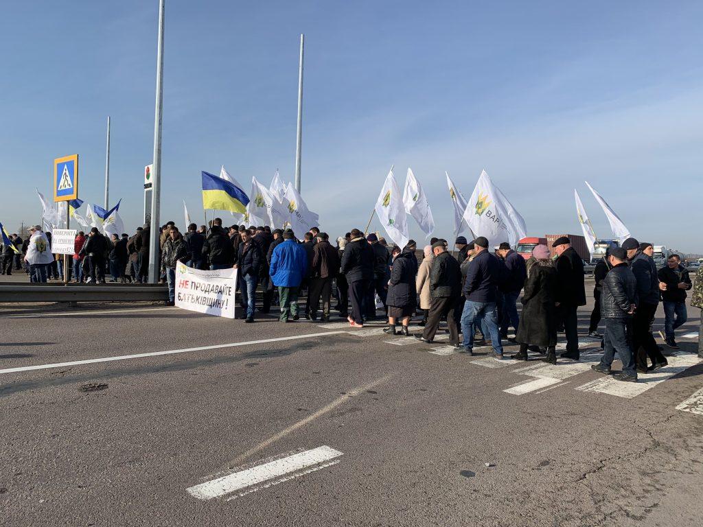 Жители севера Одесчины перекрыли трассу Одесса — Киев