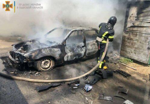 В Одессе загорелся гараж