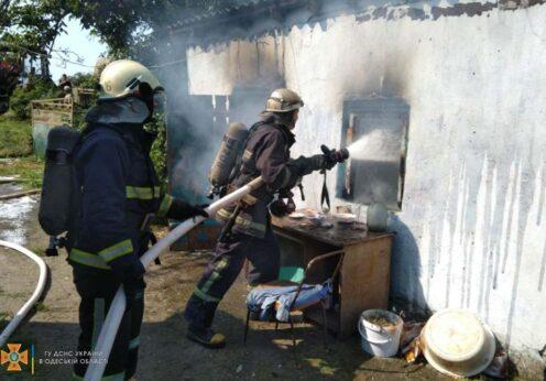 Пожар в Одесской области