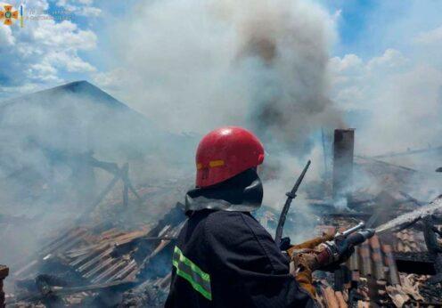 Пожар на территории мясокомбината