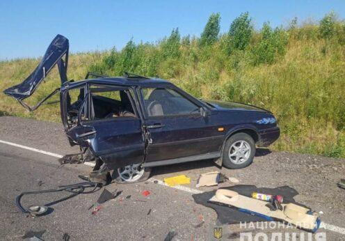 Машину разорвало на две части на трассе Подольск-Балта