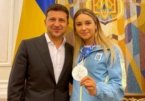 Владимир Зеленский и Анжелика Терлюга
