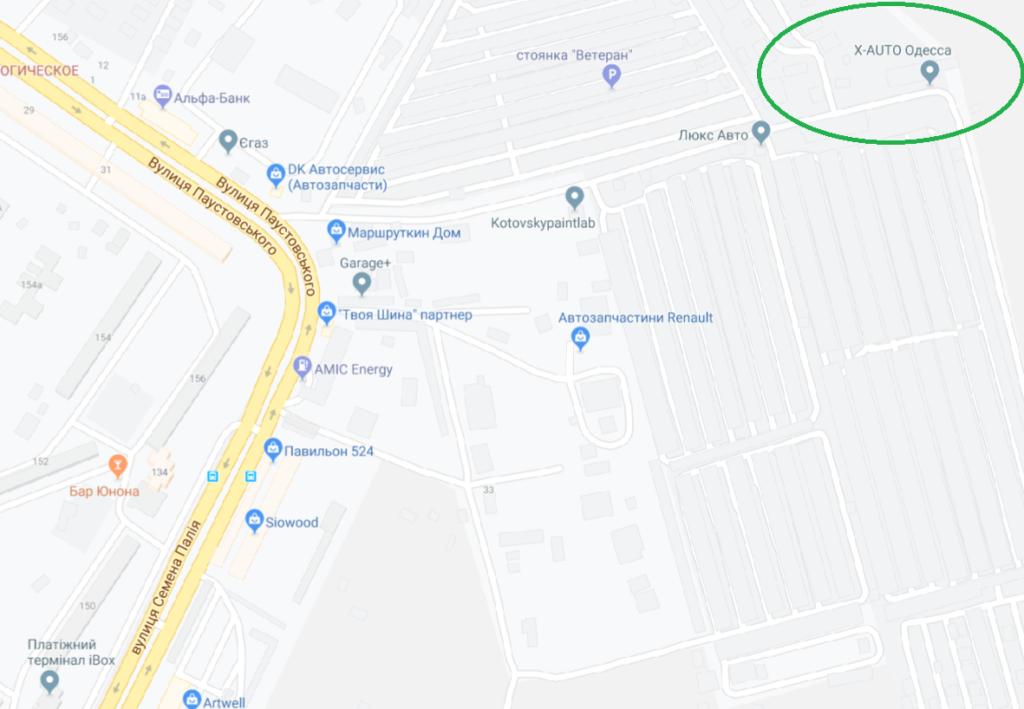 СТО Х Авто Одесса карта