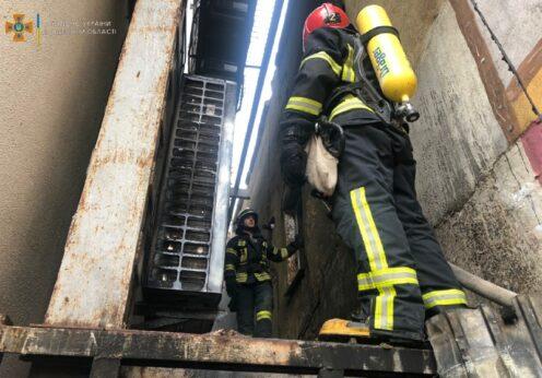 Пожар в 14-этажке в Одессе