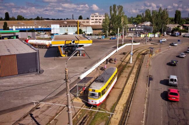 Линия трамвая на поселок Котовского