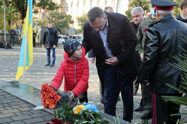 Одесситы почтили память защитников Украины