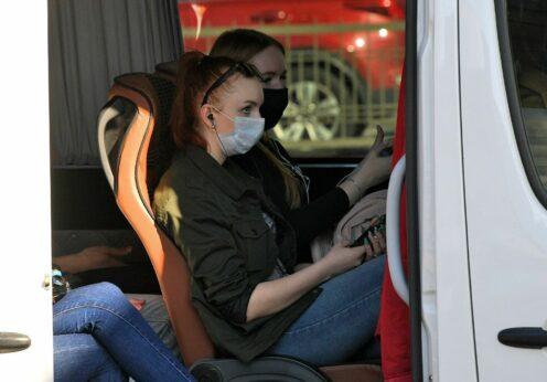 Пассажиры маршруток в Одессе