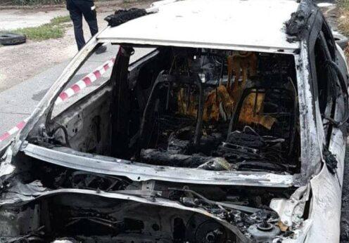 В Одессе подожгли автомобиль
