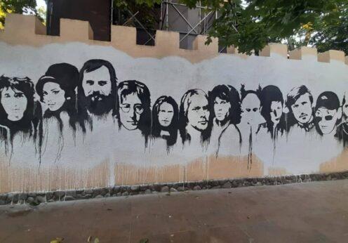 Стена рок-н-ролла Одесса Горсад