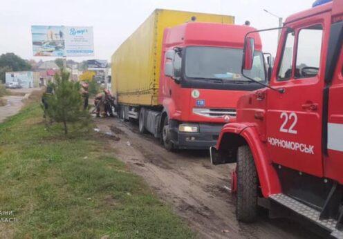 В Одесской области горел грузовик RENAULT